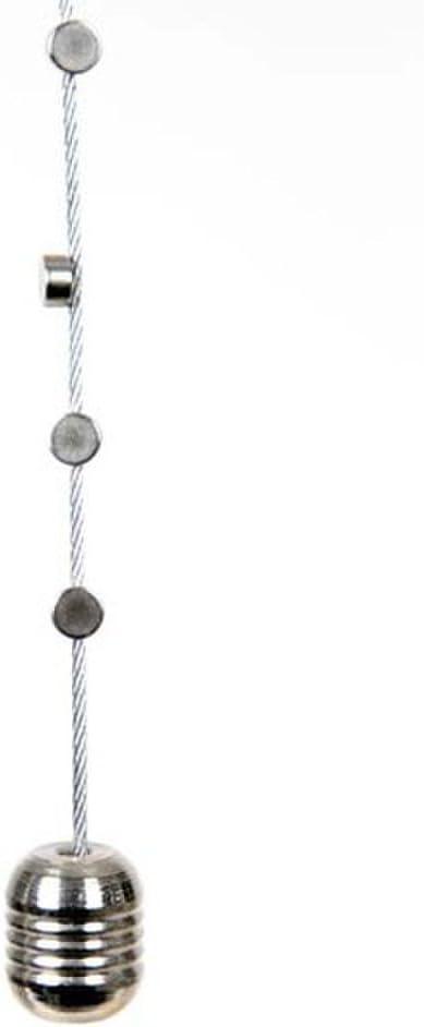HAB & GUT -MC002- Cuerda de acero vertical para colgar fotos, 120 cm, 8 imanes de neodimio