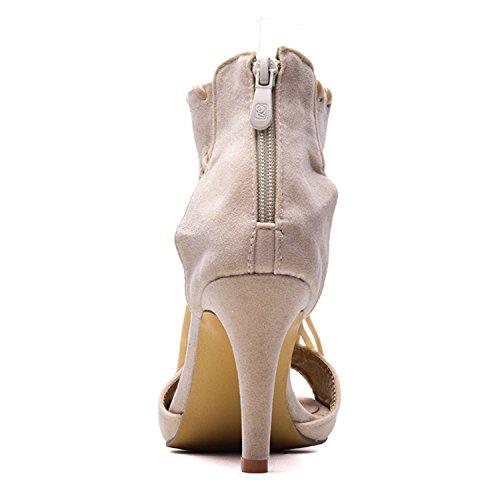 Fashion 42 43 Sandals Plus Shoes Heels Summer 2018 Size Women Jeff 41 Tassel Black Tribble High pOqwn6pzxH
