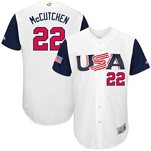 Men's 2017 World_Baseball_Classic USA_Team Andrew McCutchen Baseball Jersey White 40/M