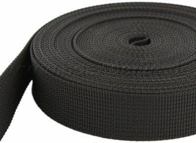 1,4mm stark 10m PP Gurtband UV 10mm breit schwarz