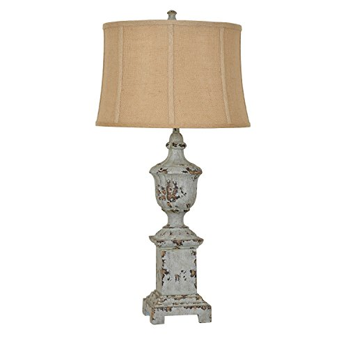 Crestview Collection French Heritage Distressed Blue Table Lamp from Crestview Collection