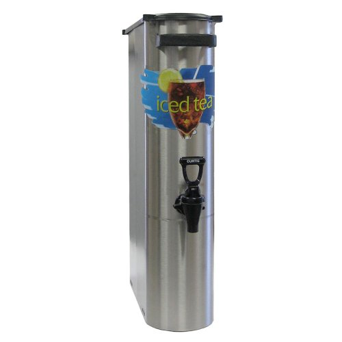 "Wilbur Curtis Iced Tea Dispenser 3.5 Gallon Narrow Tea Dispenser, 22""H - Designed to Preserve Flavor  - TCN (Each) by Wilbur Curtis"