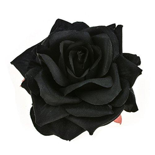 Vividsun Party Rose Flower Hair Clip Flamenco Dancer Pin up Flower Brooch (Black)