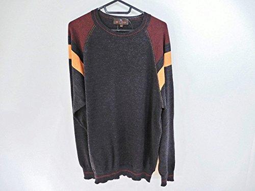 (エトロ) ETRO セーター 長袖セーター メンズ ダークグレー×マルチ 【中古】 B07DNX9KZV  -
