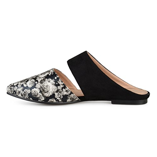 Leather Mules Faux Floral On Faux Womens Suede Brinley Slip Co nSvgwfx7q