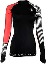 Glamorous Women's Rash Guard. Long Sleeve Swim Shirt. Sun Protection Swim
