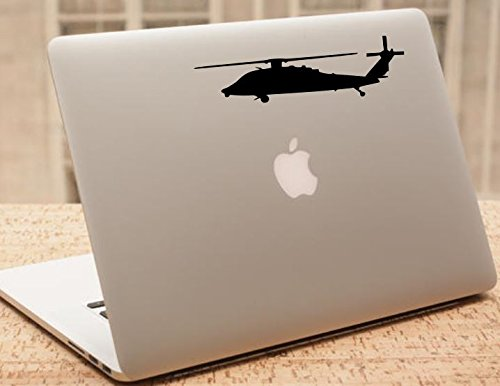 Decal - Helicopter - Blackhawk Helicopter Silhouette Vinyl Decal - Military Car Decal - H2 (2