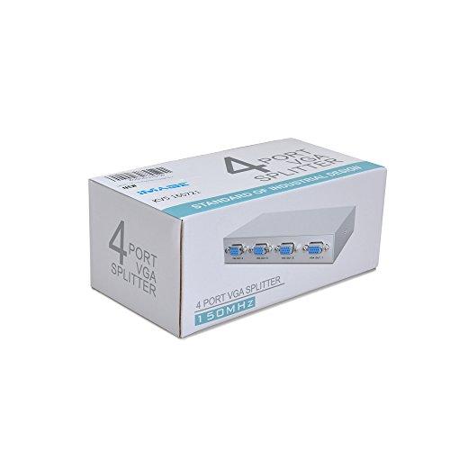 IMAGE 1 PC To 4 Monitors Splitter Box VGA/SVGA LCD CRT 4 Port Video