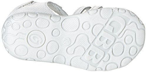 Catimini Cygne - Zapatos de primeros pasos Bebé-Niños Blanco - Blanc (11 Vte Argent Dpf/Zabou)