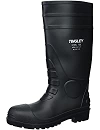 31251.10 Pilot 15-in Cleated Steel Toe Knee Boot, Size 10, Black