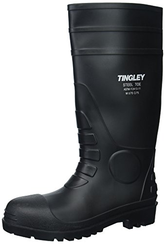 Tingley 31251.10 Pilot 15-in Cleated Steel Toe Knee Boot, Size 10, Black ()
