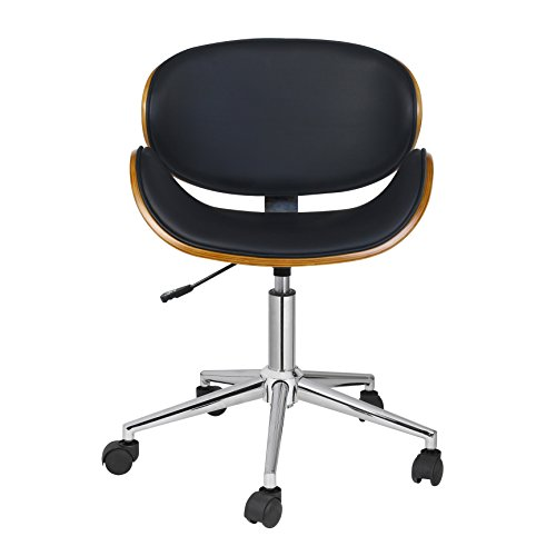 Porthos Home Rylan Office Chair a Classy Executive Office Chair, with 5 Easy Glide Caster Wheels Height Adjustable, 360-degree Swivel, Fabulous Home Office Chair Size; 24 x 23 x 35 inches