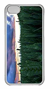 iPhone 5C Case, Personalized Custom Sunset In The Wheat Field 7 for iPhone 5C PC Clear Case