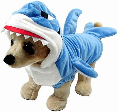 Disfraz de tiburón para perros y gatos, adorable, suave y ...