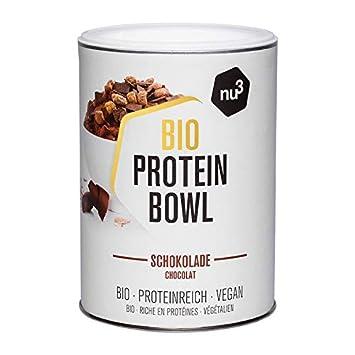 nu3 Protein Bowl orgánico sabor chocolate | 300g de gachas de avena sin gluten | Desayuno