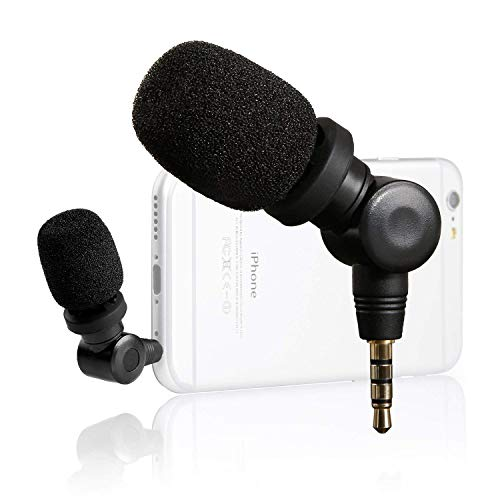Saramonic Flexible Microphone with High Sensitivity for Apple IOS iPhone 8 7 6 iPad Podcast Vlog Youtube Livestream (3.5mm TRRS ()