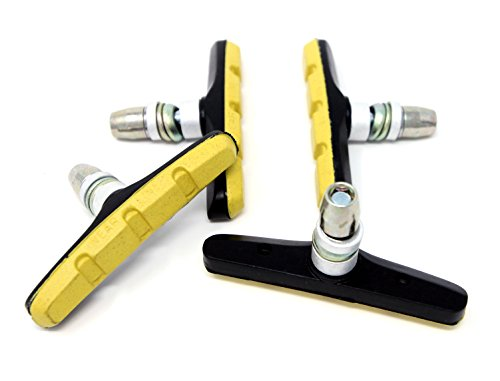 The Flying Wheels Complete Bike Brake Pad Set, 70mm (Yellow) (Wheel Set Complete)