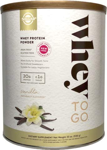 Solgar - Whey To Go Protein Powder,  Natural Vanilla Flavor, 32 Oz.