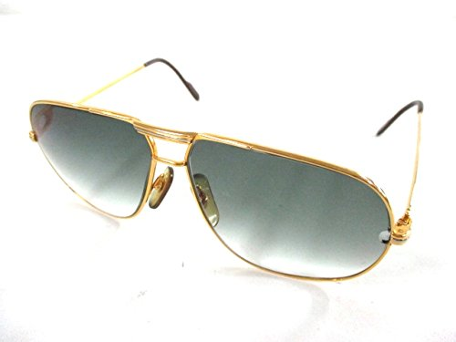 (カルティエ) Cartier サングラス 黒×ゴールド 140 【中古】 B07F694MZM  -