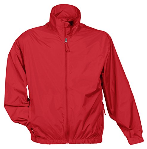 Tri Mountain Men's Lightweight Water Resistant Jacket, Red, -