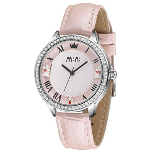 fq-265-three-rabbits-polymer-clay-womens-girls-wrist-watches-crown-index-pink-calfskin-leather-strap
