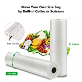 "ABOX Vacuum Sealer bag with roll 11"" x 197"", Sous"