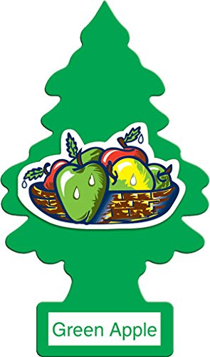 LITTLE TREES Car Air Freshener | Hanging Paper Tree for Home or Car | Green Apple | 12 Pack ()