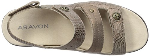 Power Strap Comfort Three Strap Metallic Comfort Three Womens Taupe Aravon Power nwxCXaXq