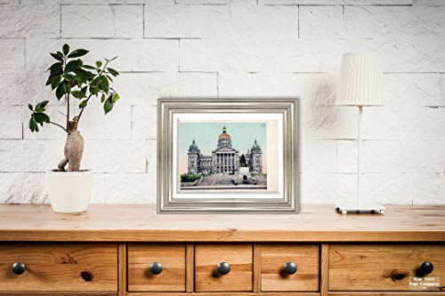 New York Map Company  State Capitol, Des Moines, Iowa, 1907 Postcard Vintage Antique Fine Art Reproduction Photo |Size: 9x12|Ready to Frame