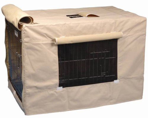 - Precision Pet Indoor Outdoor Crate Cover for Size 5000 Crates Tan