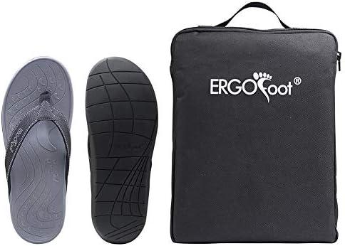 ERGOfoot Orthotic Flip Flops Stylish Thong Sandals Ultra