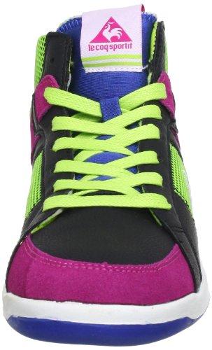 Le coq Sportif TOULOUSE MID 01041027.25Y - Zapatillas de deporte de cuero para mujer Negro (Schwarz (Black))