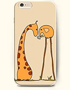 OOFIT Apple iPhone 6 Case 4.7 Inches - Giraffe and Elephant