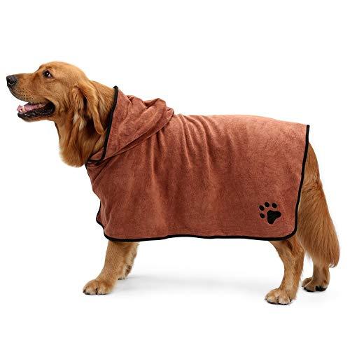 Toalla del animal doméstico del perro toalla-toalla absorbente del microfiber-toalla encapuchada ajustable fácil usar la...