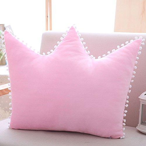 Shiny Stone-Decorative Pillows Crown Pillow Bedside Cushion Princess Style Washable Sleeping Plush Pillow 19.7