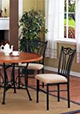 Set of 2 Black Metal Dining Chairs