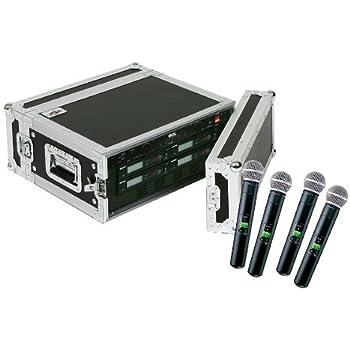 shure slx24 sm58 4 pack wireless handheld microphone system musical instruments. Black Bedroom Furniture Sets. Home Design Ideas