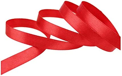 kawayi-桃 (25ヤード/ロール)片面サテンリボンウェビング装飾ギフトクリスマスリボン(6/10/12/15/40 / 50mm)-Red-15mm