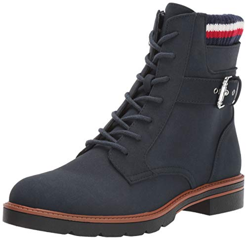Women''s Navy Morten Boot Hilfiger Combat Tommy aw50qF