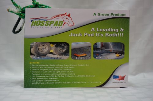 Hosspad Extreme - Stabilizing , Jacking & Leveling Pads (4 Pads Per Pack) by BSRM Inc