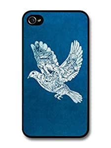 Coldplay Ghost Stories Album Artwork Dove with Drawings case for iPhone 4 4S A7290 wangjiang maoyi