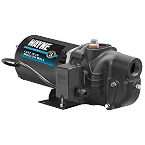 2. WAYNE SWS100 1 HP Cast Iron Shallow Well Jet Pump for Wells up to 25 ft.