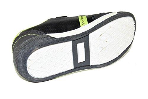 B1861 Kinder Sneaker/ Sportschuhe mit Klettverschluss in Schwarz/ Grün Gr.: 19-36 Schwarz/Grün