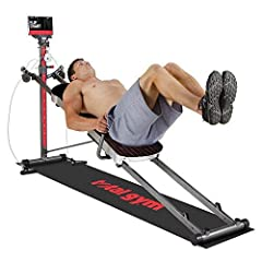 Total Gym XL7 AbCrunch Accessory Squat Stand Dip Bars Press Up Bars 2 Piece Wing Attachment Leg Pull Accessory Exercise Flip Chart Long Mat Padded Pillow on Glideboard Nutrition Guide Exercise Guide Total Body Workout DVD with Rosalie Brown T...