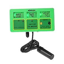 KKmoon Professional 4 in 1 Multi-parameter Water Testing Meter Digital LCD Tri-Meter Multi-function Water Quality Monitor pH / RH / EC(TDS) / TEMP Multiparameter Water Quality Tester