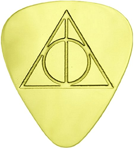 - Deathly Hallows - Solid Brass Guitar Pick