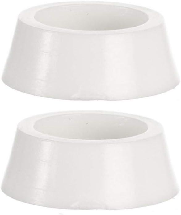Melody Jane Dollhouse 2 Plain White Pet Food Dish Water Bowl Small 1:12 Pet Accessory