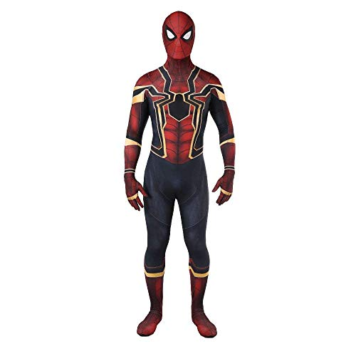 Unisex Lycra Spandex Zentai Halloween Cosplay Costumes Adult/Kids 3D Style (Kids-X-Small(Height:39-42Inches), Red)