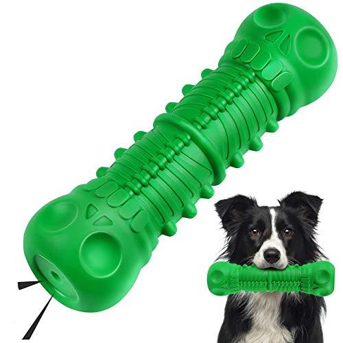 G.C Hund Kauspielzeug Quietschendes Hundespielzeug unzerstörbar Schädel Robust Naturkautschuk Zahnreinigung Hund…
