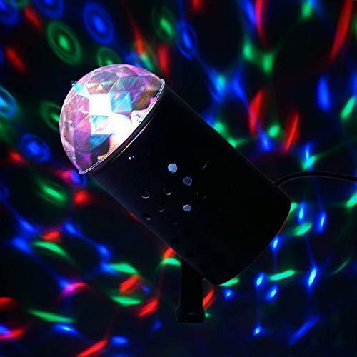 Mikash Red Green Blue Mini Disco Ball Stage Spot Light Wedding Decoration Party | Model WDDNGDCRTN - 12293 | 1 Piece
